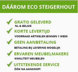Ecosteigerhout - Hoekbank steigerhout
